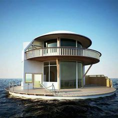 A floating house. Talk about getting away from it all.