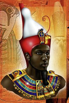 Qu'est-ce qu'un Kémite Egyptian Pharaohs, Ancient Egyptian Art, Egyptian Artwork, African Culture, African History, Egyptian Kings And Queens, Art Afro, Black King And Queen, Black Royalty