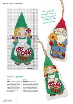 Gnome Sweet Gnome From Cross Stitcher N°307 July 2016 3 of 3