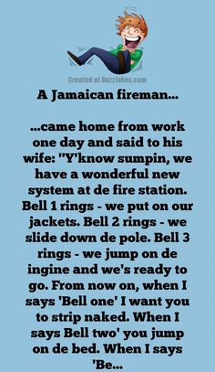 A Jamaican fireman… Funny Marriage Jokes, Funny Jokes, Hilarious, Jokes Videos, Videos Funny, Hospital Humor, After Marriage, Joke Of The Day, Canada Post