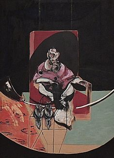 By Francis Bacon, 1963, Figure with two owls,  Study for Portrait of Pope Innocent X after  Velázquez.