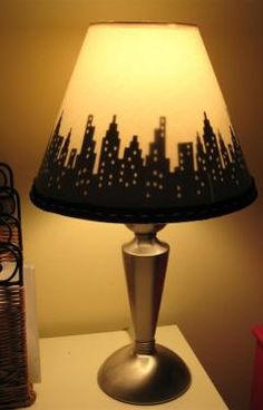 A glowing skyline. So easy to make! Photo by Chica And Jo. #apartment #decorating #DIY