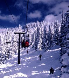 Breckenridge, Colorado - okay, so who hasn't skied here if you like to ski.  But still, great place to ski and have fun!  Keystone Mountain close too and there is good skiing there as well.