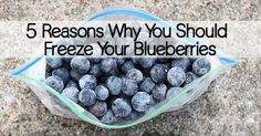 Find out why freezing blueberries actually makes them more potent in anthocyanins which is a good thing!