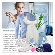 """Blue Style"" by janee-oss ❤ liked on Polyvore featuring Mix & Match"