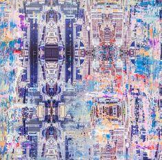"Painted Photograph: ""H"" (2014) Series: Metropolitan Aura NYC 1"