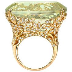Tamir Incredible 70.99ct Spodumene And Diamond Garden Ring.