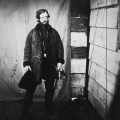 One of the first war photographers, Roger Fenton, records shell shocked Captain Lord Balgonie, Grenadier Guards, Crimean War, 1853-1856.