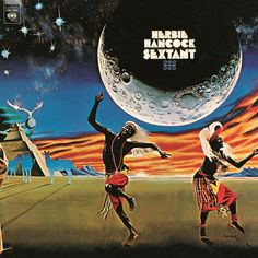 Album cover for Herbie Hancock's Sextant (1973). Artwork by Robert Springett.