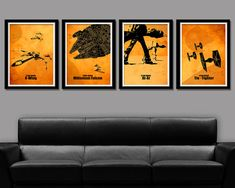Star Wars Minimalist Movie Poster Set - 13 X 19 Home Decor (warm yellow) on Etsy, $56.95 CAD