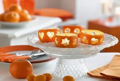This is a great idea - tangerine or orange peel instead of a pumpkin