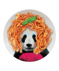 Mustard Panda Wild Dining Party Plate | Present this dish to your resident party animal for a wild dinner party.