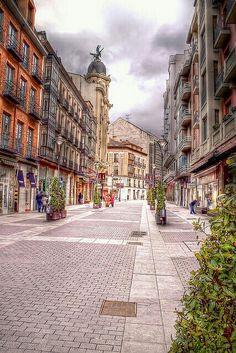 C/ Santiago. Valladolid.SPAIN