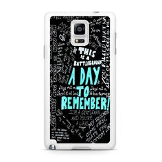 A Day To Remember Quote Samsung Galaxy Note 4 Case