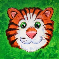 Cartoon tiger hed by Jo Travers  http://www.picties.com/?option=author&author_id=112&image=287