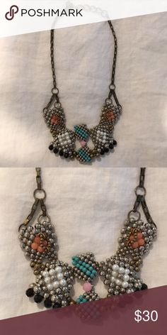 Anthropologie Pam Hiran Beaded Collar Necklace Anthropologie Pam Hiran Beaded Collar Necklace only worn 2x. Anthropologie Jewelry Necklaces