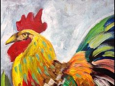 How to paint   Rooster   The Art Sherpa - YouTube
