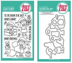 Avery Elle Clear Stamp and Die SETDSAE Elf-Tacualr SET
