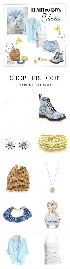 """~Denim & Daisies~"" by justwanderingon ❤ liked on Polyvore featuring Dr. Martens, Daisy Jewellery, Chan Luu, Simons, Kenneth Cole, Marc Jacobs, adidas, DrMartens, jeanshorts and denimshorts"