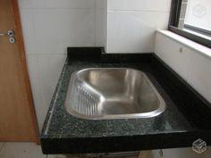 tanque inox granito   ... Tanque de granito verdeubatuba 80cm c/cuba inox TRAMONTINA 1º LINHA                                                                                                                                                      Mais