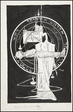 Original Cover Art for Moon Knight #38 by Michael Kaluta