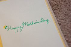 Mothers Day Card: Hand Cut  Spring Tulips. $8.00, via Etsy.