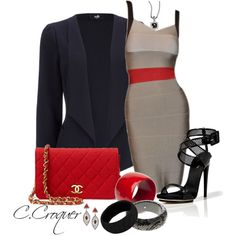 """""""Color Block Dress"""" by ccroquer on Polyvore"""
