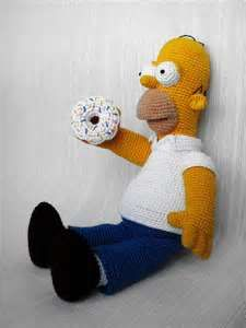 Crocheting Cartoons : ... crocheted Homer Simpson which actually looks like the cartoon