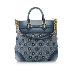 Pre-Owned Louis Vuitton Corsaire Polka Dots (184.955 RUB) ❤ liked on Polyvore featuring bags, handbags, blue, monogrammed handbags, chain handle purses, chain purse, louis vuitton purse and blue purse