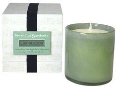 Fresh Cut Gardenia Living Room Candle