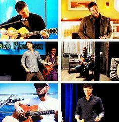 Jensen Ackles + Guitars