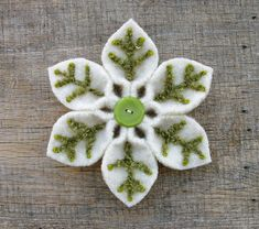 Evergreen Snowflake by WanderingLydia, via Flickr