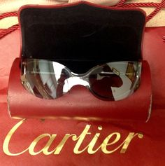 CARTIER EYEGLASSES SUNGLASSES PASHA Rimless - AUTHENTIC #Cartier #Rimless