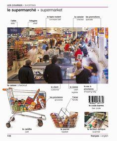 Vocabulaire : le supermarché / les courses