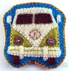 Oops, I Craft My Pants: Felt Badges! Stitch, the Lorax, VW Bus and a Monster