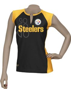 Reebok Pittsburgh Steelers Women s Two Toned Split Neck T-Shirt Small -  Root for your b02d2c298