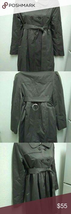 Coat maternity 57% polyester, 43% nylon. Machine wash cold Liz Lange Jackets & Coats Trench Coats
