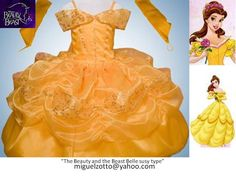 Belle disney princess yellow dress The Beauty and The Beast costume gown bride girl bridesmaid medieval christening party quince pageant XV. $95.00, via Etsy.