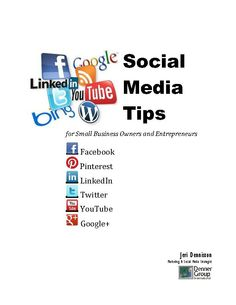New eBook with step by step screen shots to help you set up the five most popular sites: Facebook, Twitter, LinkedIn, Pinterest, YouTube. It includes how to set up custom tabs to link Pinterest and YouTube to your Facebook page. Just $7  http://strategysd.com/ebooks.php