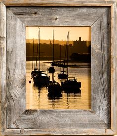 Barnwood Frame |Reclaimed Rustic Wood 24x36 Picture Frames Love the frame