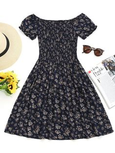 Up to 80% OFF! Smocked Tiny Floral Off Shoulder Mini Dress. #Zaful #Dress Zaful,zaful dress,zaful outfits,black dress,dress,dresses,fashion,fall outfits,winter outfits,winter fashion,dress,long dress,maxi dress,long sleeve dress,flounced dress,vintage dress,casual dress,lace dress,boho dress,open back,dresses casual,flower dresses,maxi dresses,evening dresses,floral dresses,long dresses,party dresses,gift,Christmas,ugly Christmas,Thanksgiving,Cyber Monday @zaful Extra 10% OFF Code:ZF2017
