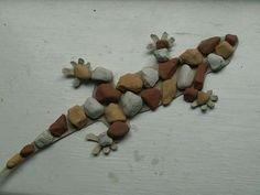 rock lizard for the garden
