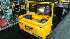 Got your hands on #DeWalt's ToughBox yet? It integrates beautifully with their ToughSystem storage solutions! #STAFDA2016
