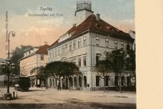 Czech Republic - In old Teplice (Teplitz) Year 1910 Old Photographs, Old Postcards, Dresden, Rotterdam, Czech Republic, Europe, Mansions, House Styles, City