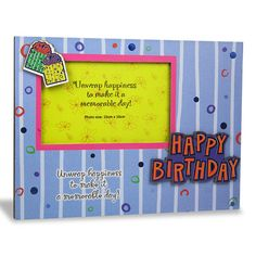 Happy Birthday Photo Frame. Happy Birthday.unwrap happiness to make it a memorable day… : Shop Now : Rs. 474 : Height : 19 cm X Length : 25 cm X width : 1 cm. https://hallmarkcards.co.in/collections/shop-all/products/birthday-frames-online