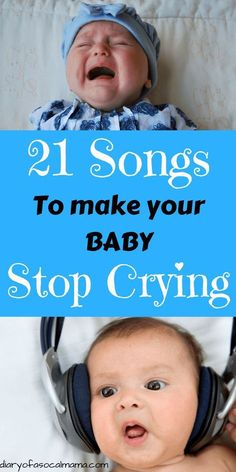 Baby won't stop crying? Make baby stop crying with these music selections. A list curated from other moms. If they work for our children one of them will work for your kid as well. From lullabies to Top 40 we've got you covered. Find your babies favorite song today! #music #babies #baby #crying #songs