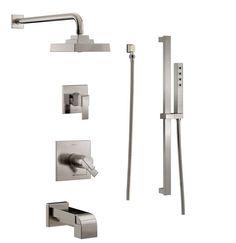 Delta Peerless Vantage Bathtub Wall Surround Set, Glue-Up, White ...