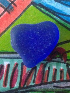 Flawless Pure Cobalt Heart Genuine Sea Glass Surf Tumbled Beach Jewlery Gem Jq | Crafts, Glass & Mosaics, Beach Glass - Surf-Tumbled | eBay!