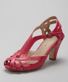 Fuchsia Carla Peep-Toe Shoe