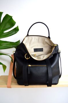 3dc99f1dd88 3-in-1 Leather Backpack Laptop Bag Convertible Backpack   leatherbackpackpurse Tote Purse